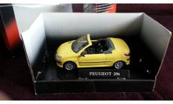 Peugeot 206 CC от производителя Cararama/Hongwell