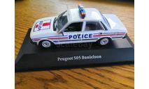 Peugeot 505 Police, масштабная модель, scale43