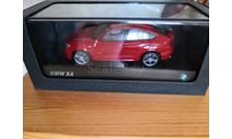 BMW X4 (F26) red, масштабная модель, scale43