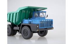 Карьерный самосвал БЕЛАЗ-540А (решётка с 5 поперечинами), синий/зелёный, масштабная модель, scale43