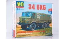 Сборная модель Армейский грузовик 34 6x6, сборная модель автомобиля, AVD Models, scale43