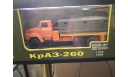КрАЗ-260 бортовой с тентом (оранжевый) 1979г. 1:43 - Наш автопром, масштабная модель