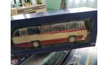 ЛАЗ 695Б городской (1956), бежевый / красный автобус, масштабная модель, scale43