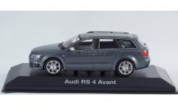 1:43 AUDI RS4 Avant B7 dark grey - MINICHAMPS в дилерском боксе AUDI, масштабная модель, 1/43