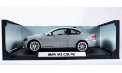 BMW 3-series M3 Coupe E92 - 1:18 - все открывается! руль поворачивает колеса!