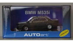 1:43 BMW 5-series M535 кузов Е28 - 1986 год - AutoArt - Капот открывается, Колеса поворачиваются
