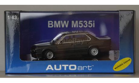 1:43 BMW 5-series M535 кузов Е28 - 1986 год - AutoArt - Капот открывается, Колеса поворачиваются, масштабная модель, 1/43