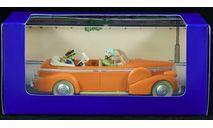 Cadillac Fleetwood 1:43 1938 год Taxi India Такси Индия с фигуркой водителя и пассажиров, масштабная модель, scale43