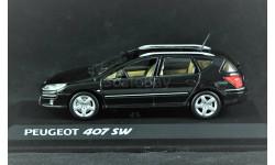 Peugeot 407 SW 1:43 Black Пежо
