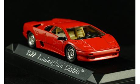 Lamborghini Diablo red красный 1:43 - Капот открывается!, масштабная модель, Solido, 1/43