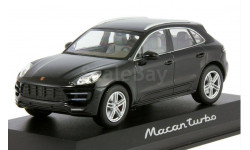 1:43 PORSCHE Macan Turbo Black - Minichamps, масштабная модель, 1/43