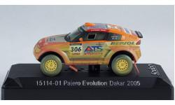 1:43 Mitsubishi Pajero Evolution REPSOL Dakar 2005 год