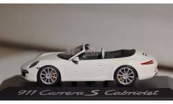 1:43 PORSCHE 911 (991) Carrera S Cabriolet - Minichamps, масштабная модель, 1/43