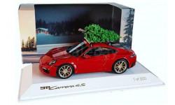 Porsche 911 992 Carrera 4S с елочкой Christmas tree 1:43 SPARK Лимитированная серия
