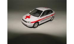 ВАЗ-2118 Калина окрас Скорая медицинская помощь, масштабная модель, 1:43, 1/43, CARARAMA