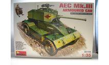 Боевая машина Mini Art 1:35 #35159 'AEC Mk.III Armoured Car', сборные модели бронетехники, танков, бтт, scale35