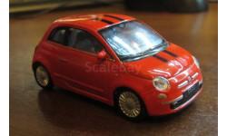 Fiat 500 - 2007, Welly, 1:43, масштабная модель, 1/43