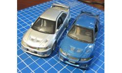 Mitsubishi Lancer Evo, 2 модели, Cararama, 1:43, масштабная модель