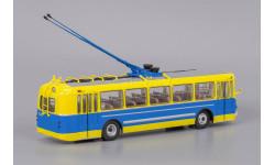Троллейбус ЗиУ-5 жёлтый/синий, масштабная модель, Classicbus, 1:43, 1/43