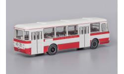 Автобус ЛиАЗ 677М бело-красный, масштабная модель, Classicbus, 1:43, 1/43