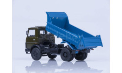 МАЗ-5551 самосвал хаки/синий, масштабная модель, Автоистория (АИСТ), 1:43, 1/43