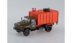 ЗиЛ-130 КО-413 Мусоровоз хаки/оранжевый, масштабная модель, Автоистория (АИСТ), 1:43, 1/43