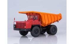Углевоз-самосвал БЕЛАЗ-7510 (красно-оранжевый), масштабная модель, Наш Автопром, scale43