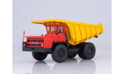 Углевоз-самосвал БЕЛАЗ-7526 (красно-жёлтый), масштабная модель, Наш Автопром, 1:43, 1/43