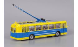 Троллейбус ЗиУ 5 3-й выпуск - Желто-синий, масштабная модель, 1:43, 1/43, Classicbus