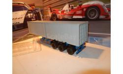 С РУБЛЯ!!! - Полуприцеп МАЗ-938920 с серыми контейнерами, масштабная модель, Автоистория (АИСТ), 1:43, 1/43