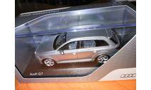 Audi Q7 2015 серебристый Spark, масштабная модель, scale43