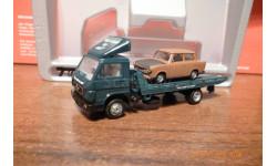 HERPA---наборчик.VW MAN эвакуатор+трабант 1:87