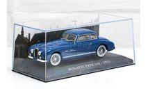 Bugatti Type 101 1951 синий, масштабная модель, Altaya, Museum Series (музейная серия), 1:43, 1/43