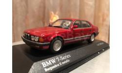 BMW 7 series 750i E32 Burgundrot II Minichamps Limited БМВ Семерка