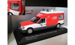 Mercedes Benz 300 D E class Ambulance Krankenwagen W124 VF124 1:43 Minichamps Мерседес Миничампс
