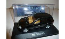 Mercedes Benz ML 1:43 Altaya Black, масштабная модель, Mercedes-Benz, scale43