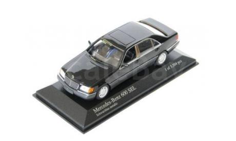 Мерседес Mercedes-Benz S 600 SEL W140 1:43 Minichamps, масштабная модель, 1/43