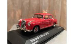 Mercedes Benz 220 S W128 Ponton 1:43 Minichamps Red Мерседес Понтон Миничампс