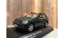Mercedes Benz ML class ML350 W164 Minichamps Green Мерседес Миничампс, масштабная модель, 1:43, 1/43, Mercedes-Benz
