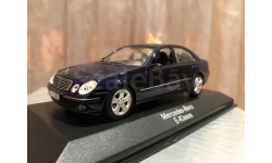 Mercedes Benz E klasse W211 2007 1:43 Minichamps Blue Мерседес Миничампс