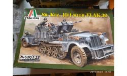 Sd.Kfz.10/4 with Flak 30, сборные модели бронетехники, танков, бтт, Italieri, scale35