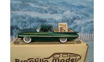 1/43   Brooklin models Chevrolet El Camino 1959 modelex 1994 BRK 46x white metal, масштабная модель, scale43