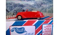 1/43  Record (France) Peugeot 202 cabriolet Handmade Resin Model Car