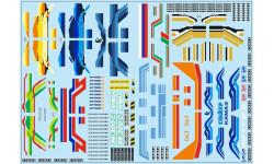Декаль. КАМАЗ (полосы, надписи, логотипы), вариант 2 (200х140), фототравление, декали, краски, материалы, 1:43, 1/43, maksiprof
