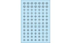 Декаль.  Эмблемы автобаз (вариант 1), черный (100х140)