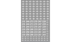 Декаль Номера и эмблемы для десантной военной техники (ВДВ) (100х140), фототравление, декали, краски, материалы, maksiprof, scale43
