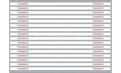 Декаль. Белые полосы для пожарных автомобилей (вариант 2) (200х140), запчасти для масштабных моделей, maksiprof, scale43