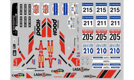 Декаль. Lada Poch Спорт, фототравление, декали, краски, материалы, maksiprof, ВАЗ, scale43