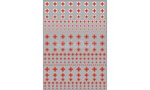 Декаль. Логотипы скорой помощи (кресты) (100х140), фототравление, декали, краски, материалы, scale43, maksiprof