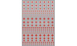 Декаль. Логотипы скорой помощи (кресты) (100х140)